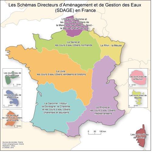 carte, SDAGE, France
