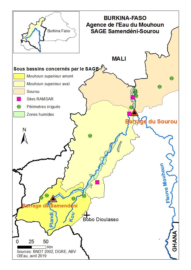 Carte SAGE Burkina Faso