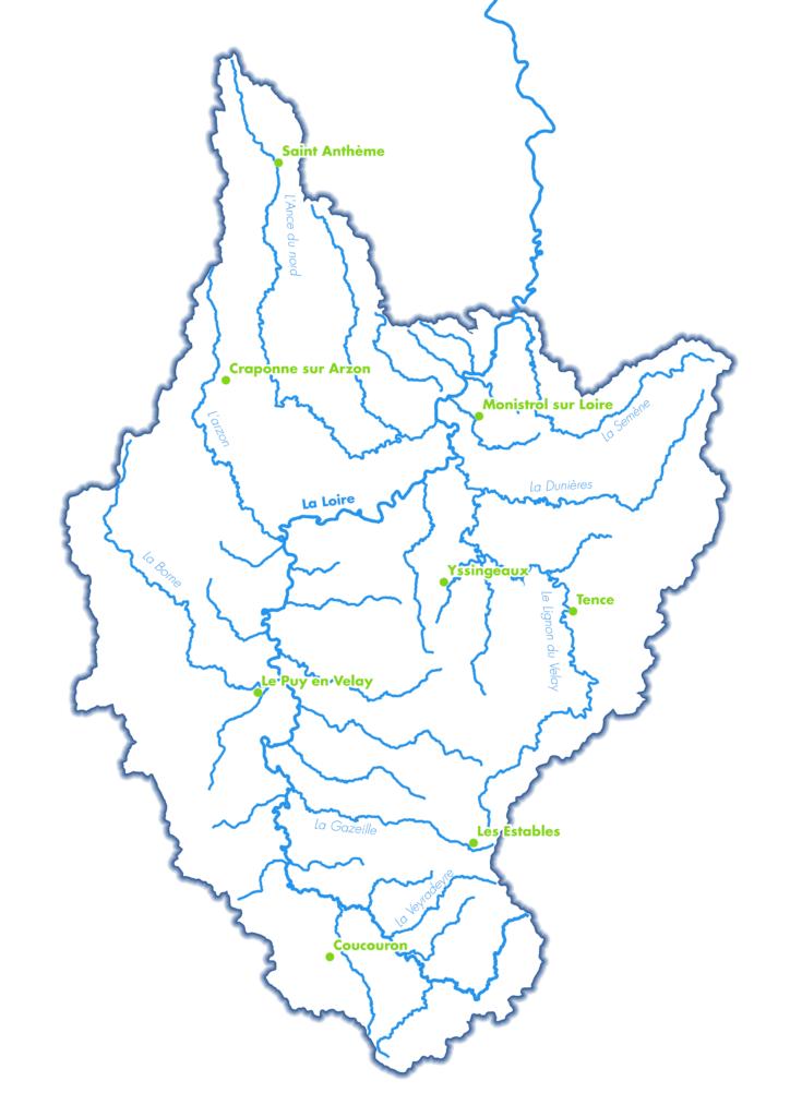 Territoire EPAGE Loire-Lignon