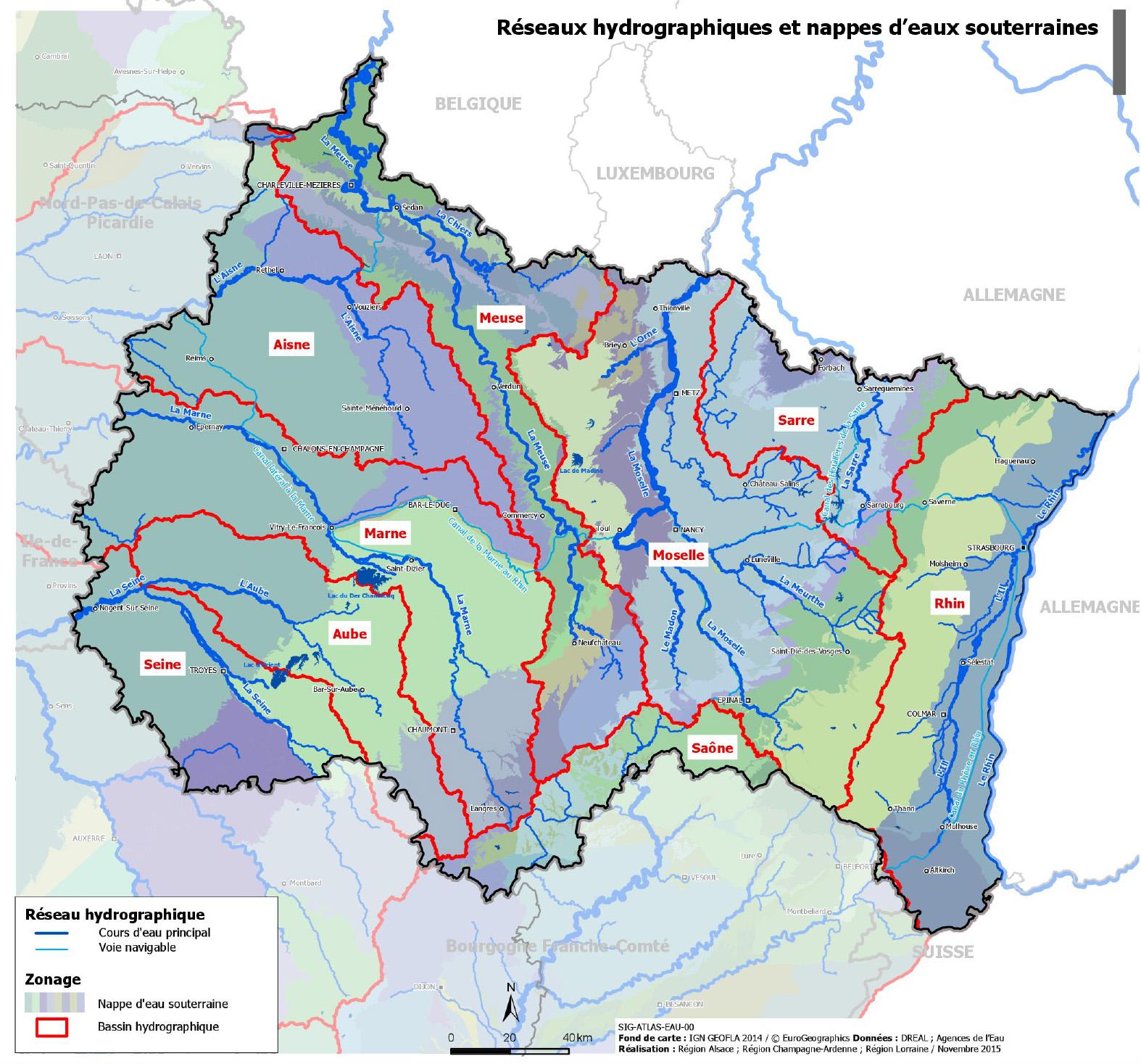 Carte Région Grand Est