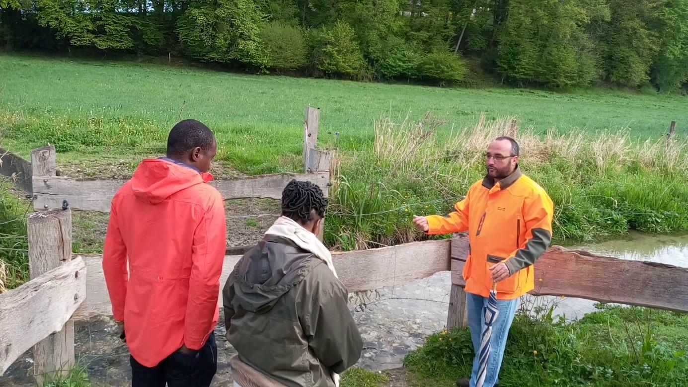 Photo d'explication de la renaturation de la rivière Fontenelle
