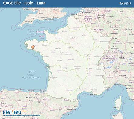 Localisation SAGE Ellé-Isole-Laïta